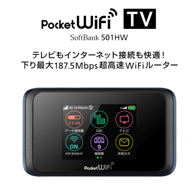 SoftBank Pocket Wi-Fi 501HW詳細